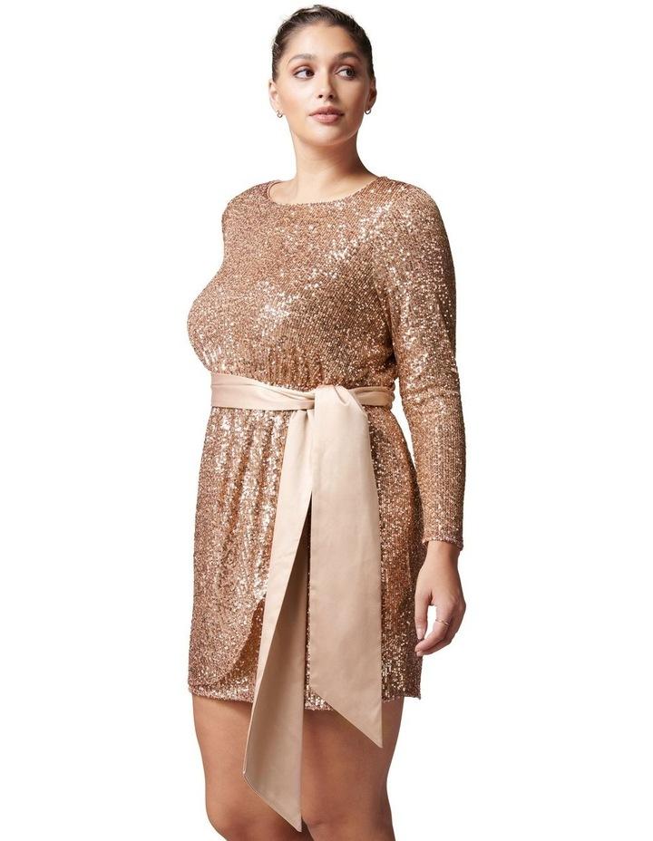Tessa Curve Sequin Mini Dress image 3