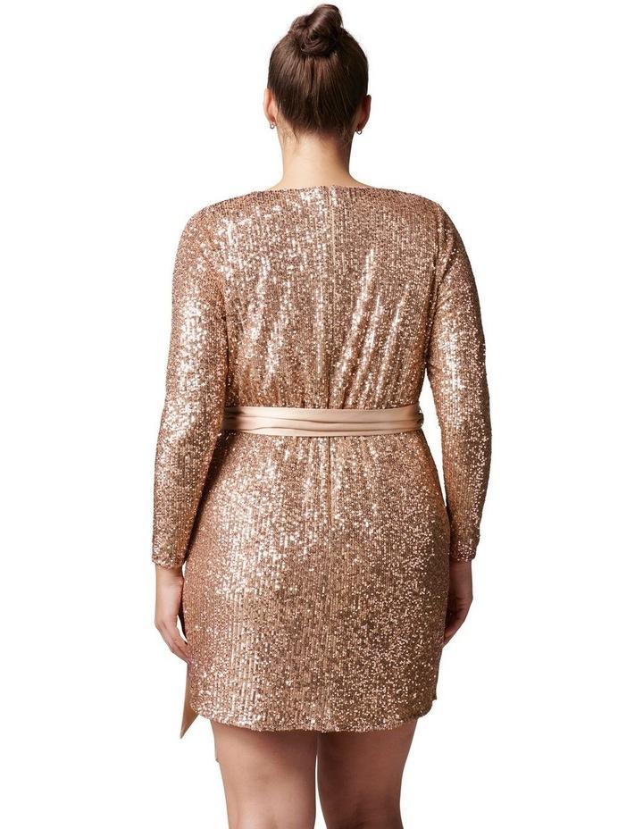 Tessa Curve Sequin Mini Dress image 4