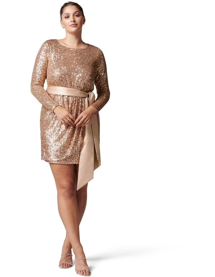 Tessa Curve Sequin Mini Dress image 5