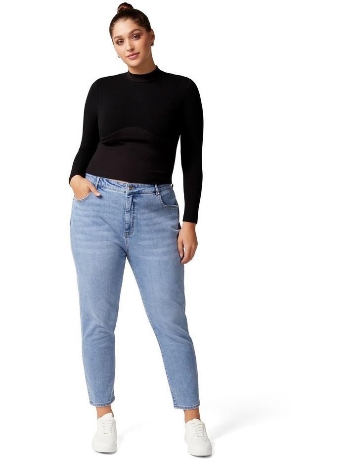 Eva Curve High Rise Mom Jean image 5