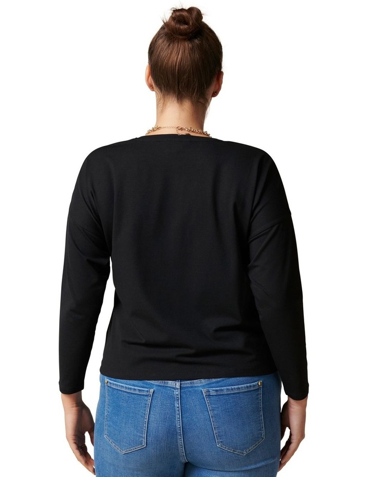 Nellie Curve Long Sleeve Tie Front Tee image 4