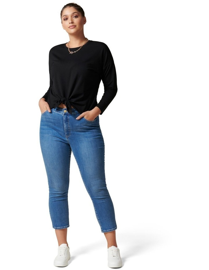 Nellie Curve Long Sleeve Tie Front Tee image 5