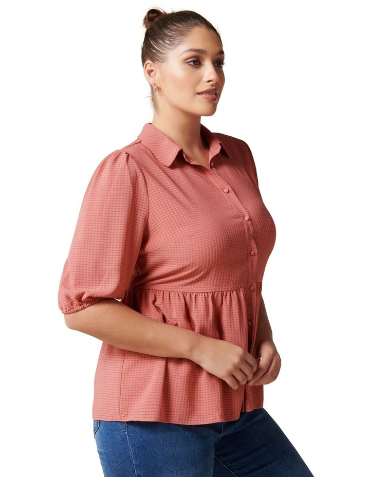 Angie Curve Textured Smock Shirt image 3