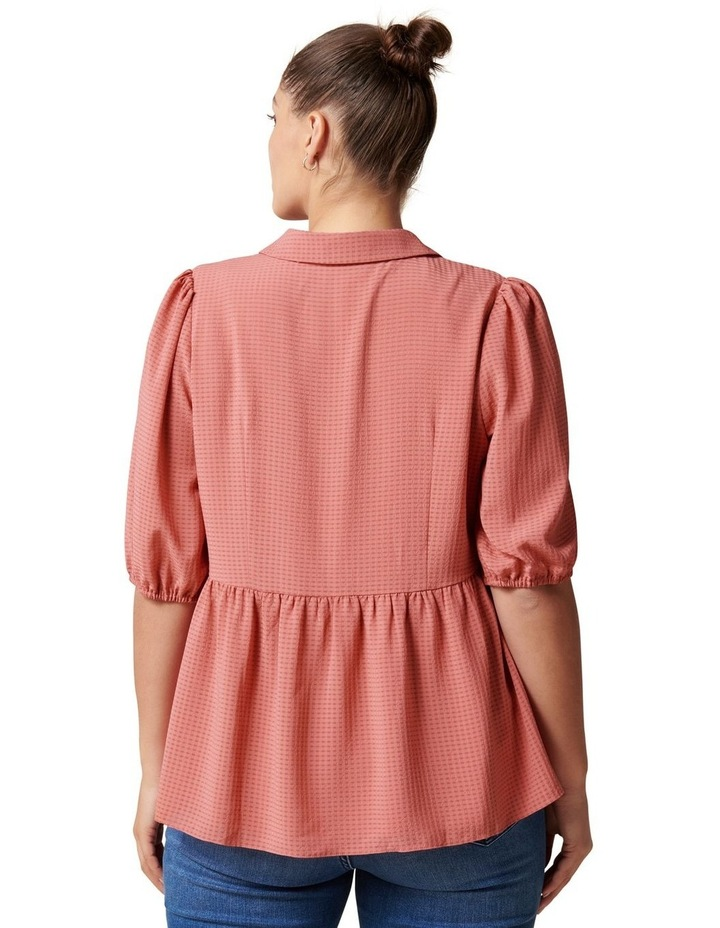 Angie Curve Textured Smock Shirt image 4