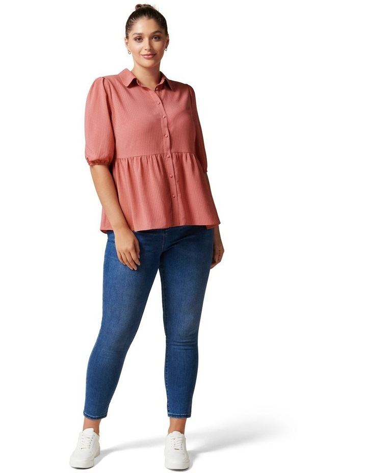 Angie Curve Textured Smock Shirt image 5