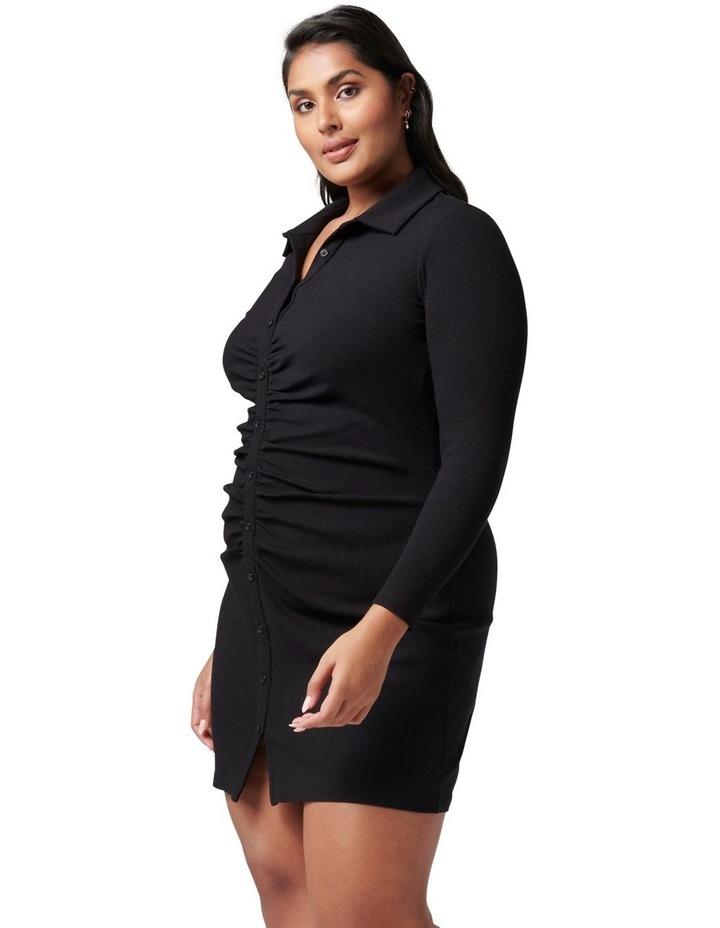 Tara Curve Ruched Jersey Shirt Dress image 3