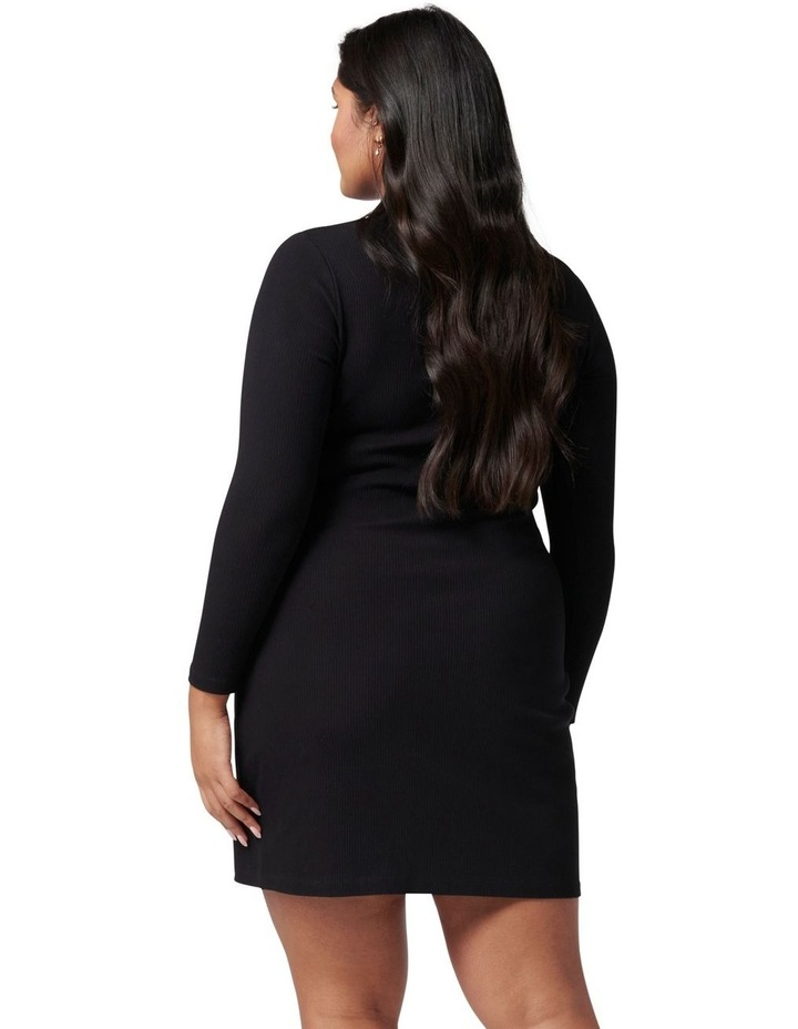 Tara Curve Ruched Jersey Shirt Dress image 4