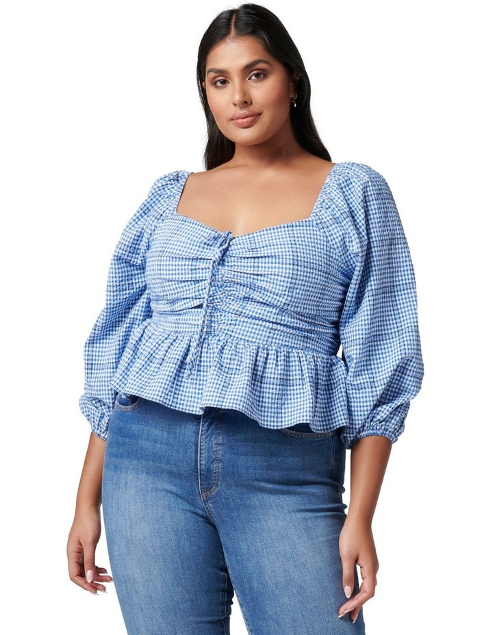Indiana Curve Check Crop Blouse image 1