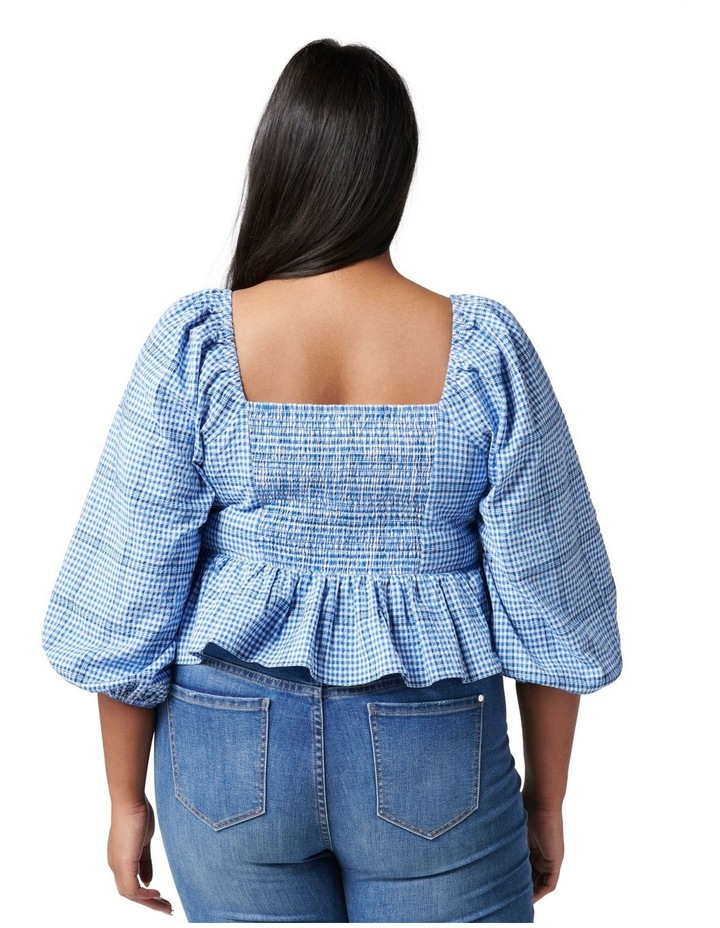 Indiana Curve Check Crop Blouse image 4