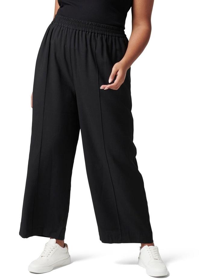 Petra Curve Wide Leg Pintuck Pant Black image 1
