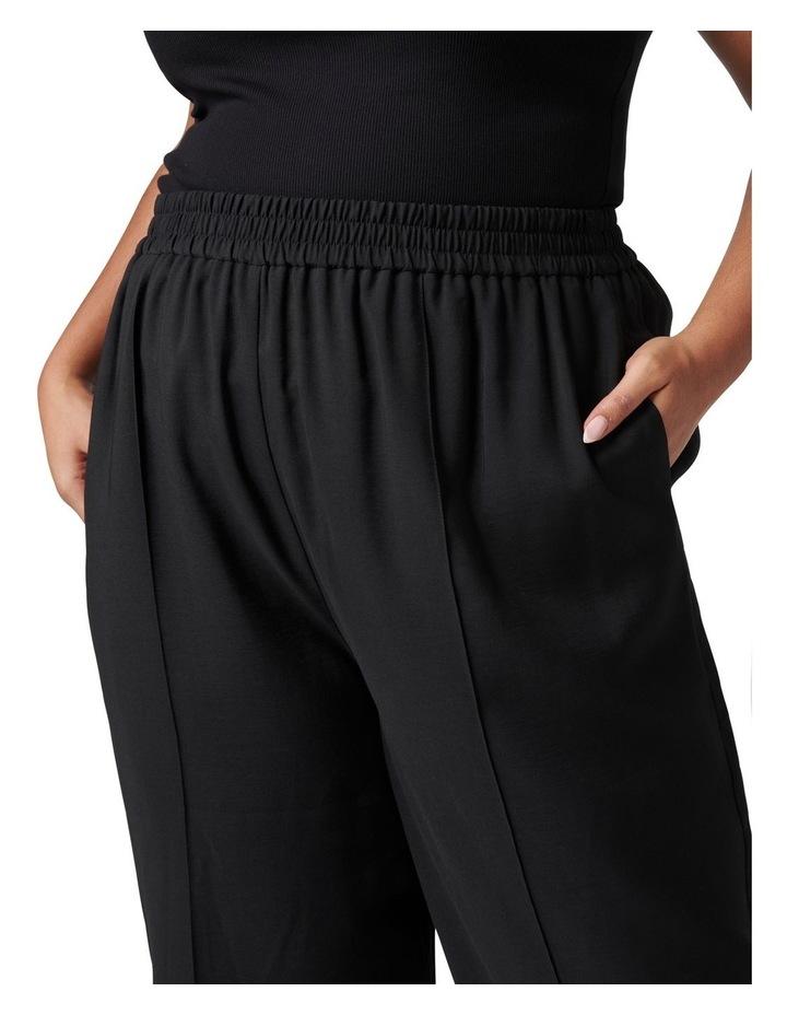 Petra Curve Wide Leg Pintuck Pant Black image 2