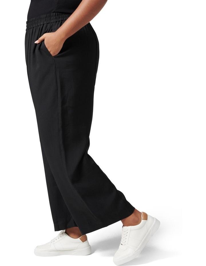 Petra Curve Wide Leg Pintuck Pant Black image 3