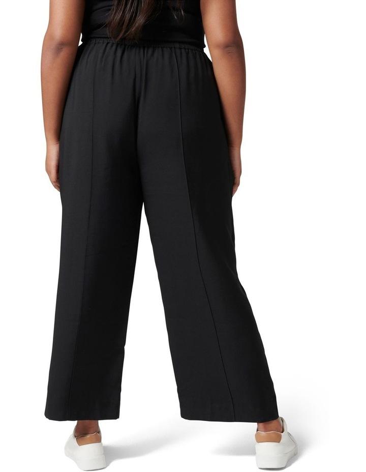 Petra Curve Wide Leg Pintuck Pant Black image 4