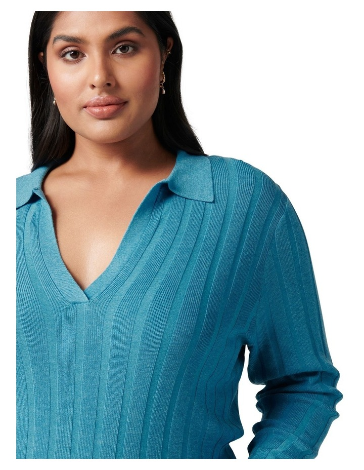 Isla Curve Cinched Polo Knit Jumper image 2