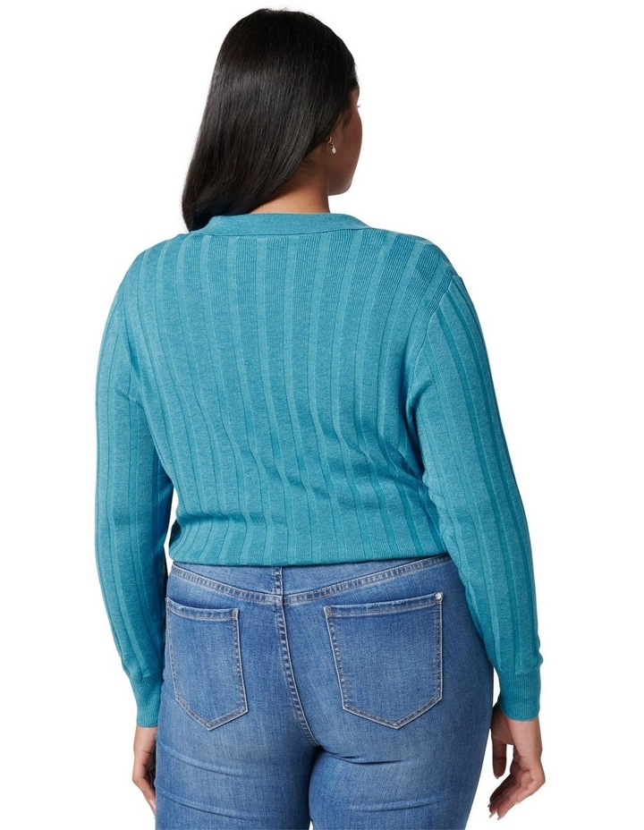 Isla Curve Cinched Polo Knit Jumper image 4