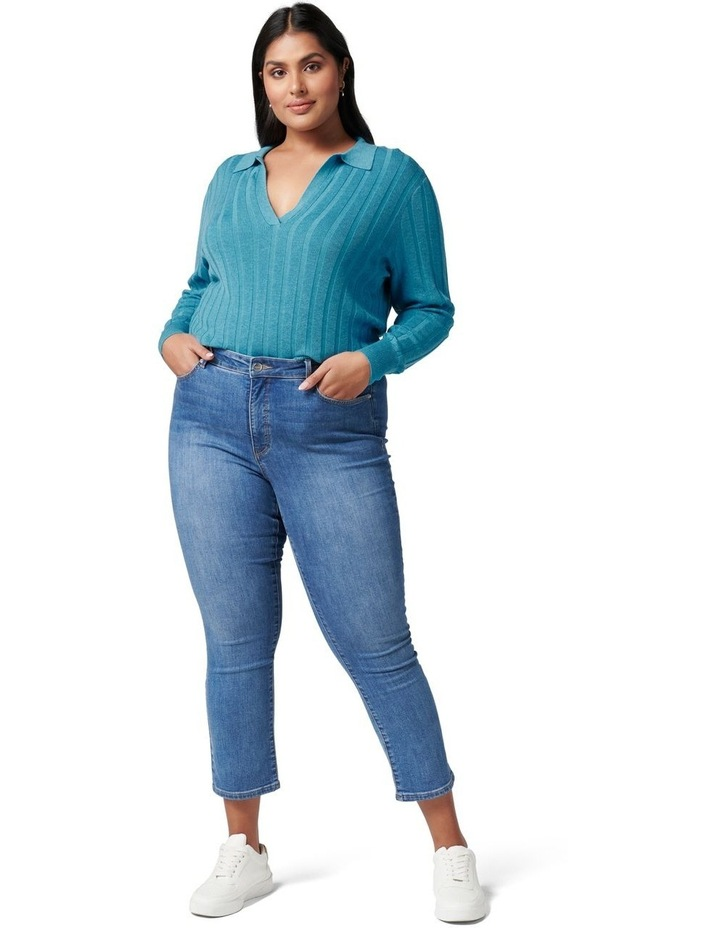 Isla Curve Cinched Polo Knit Jumper image 5