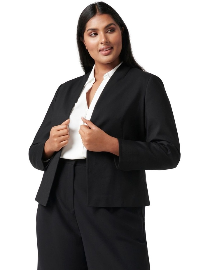 Ally Curve Fitted Blazer Black image 1