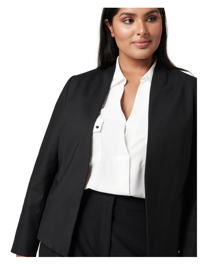 Ally Curve Fitted Blazer Black image 2