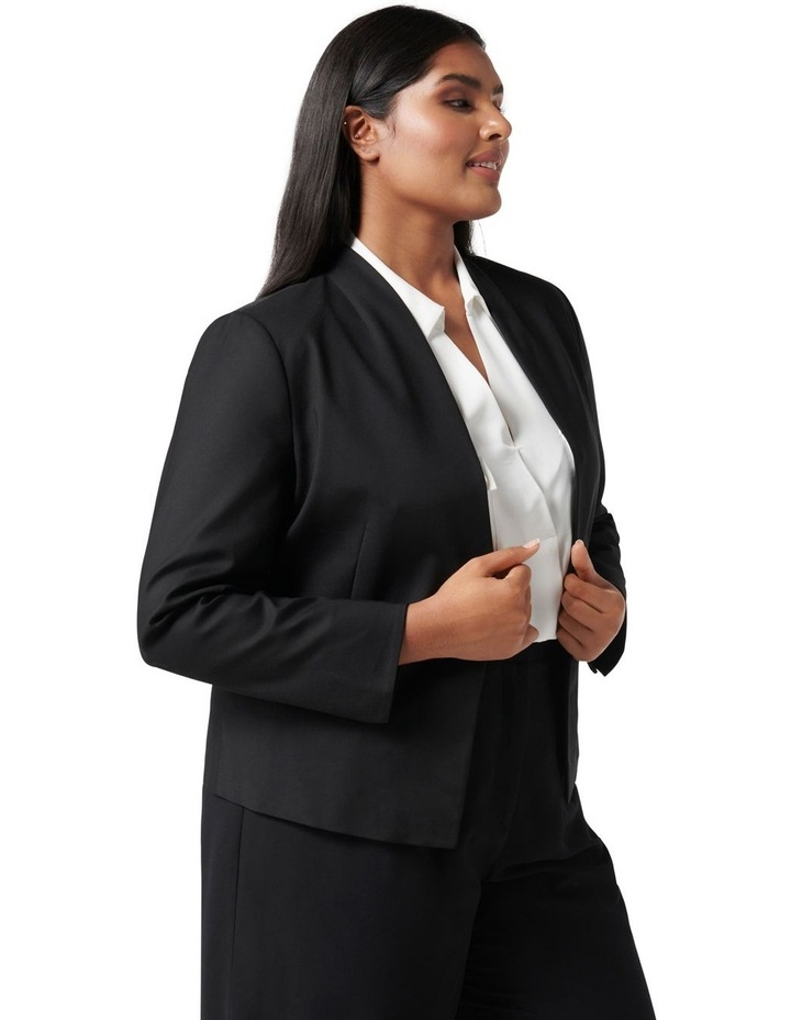 Ally Curve Fitted Blazer Black image 3