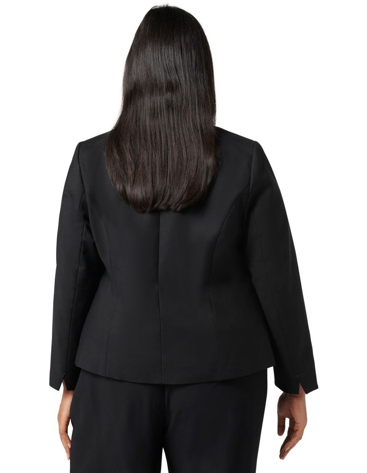 Ally Curve Fitted Blazer Black image 4