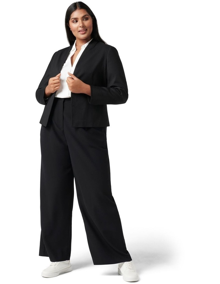 Ally Curve Fitted Blazer Black image 5