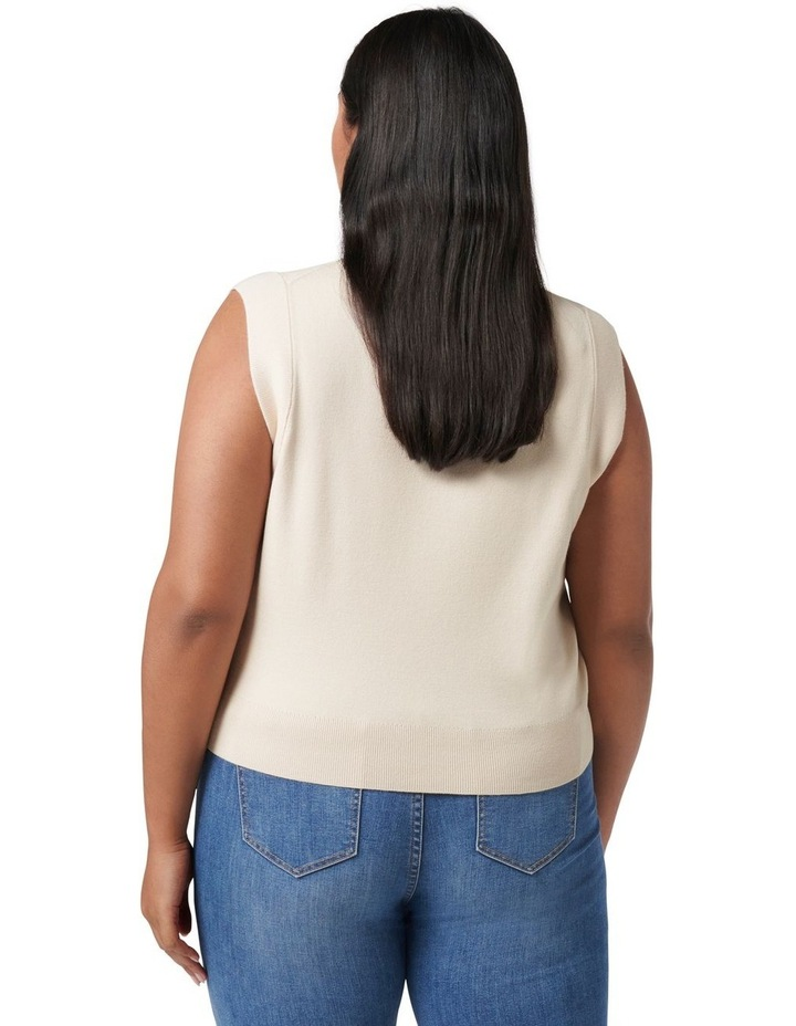 Paige Curve Relaxed Knit Tank image 4