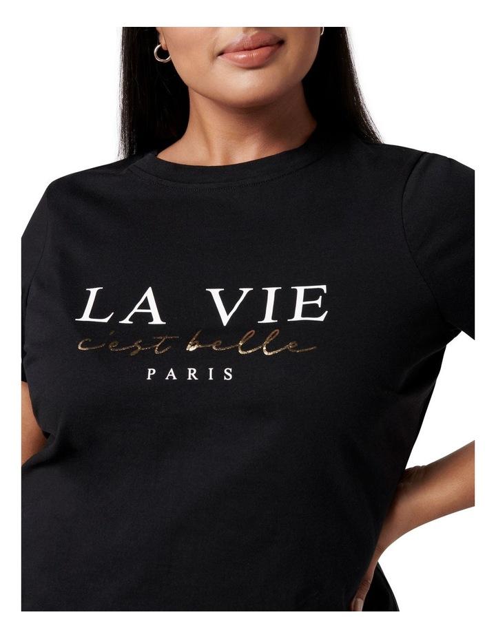 Laura Curve La Vie Graphic Tee Black image 2