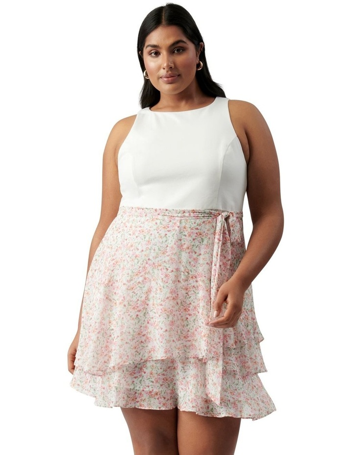 Mila Curve Shirred 2 in 1 Mini Dress Harlow Ditsy image 1