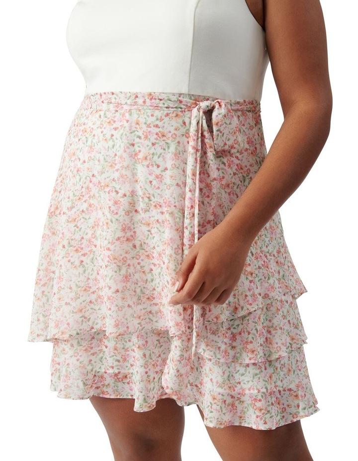 Mila Curve Shirred 2 in 1 Mini Dress Harlow Ditsy image 2