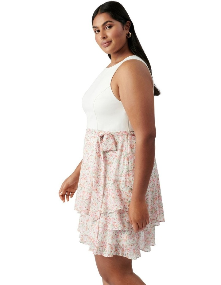 Mila Curve Shirred 2 in 1 Mini Dress Harlow Ditsy image 3