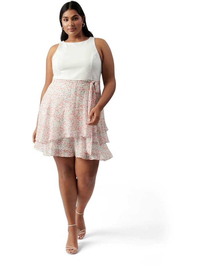 Mila Curve Shirred 2 in 1 Mini Dress Harlow Ditsy image 5