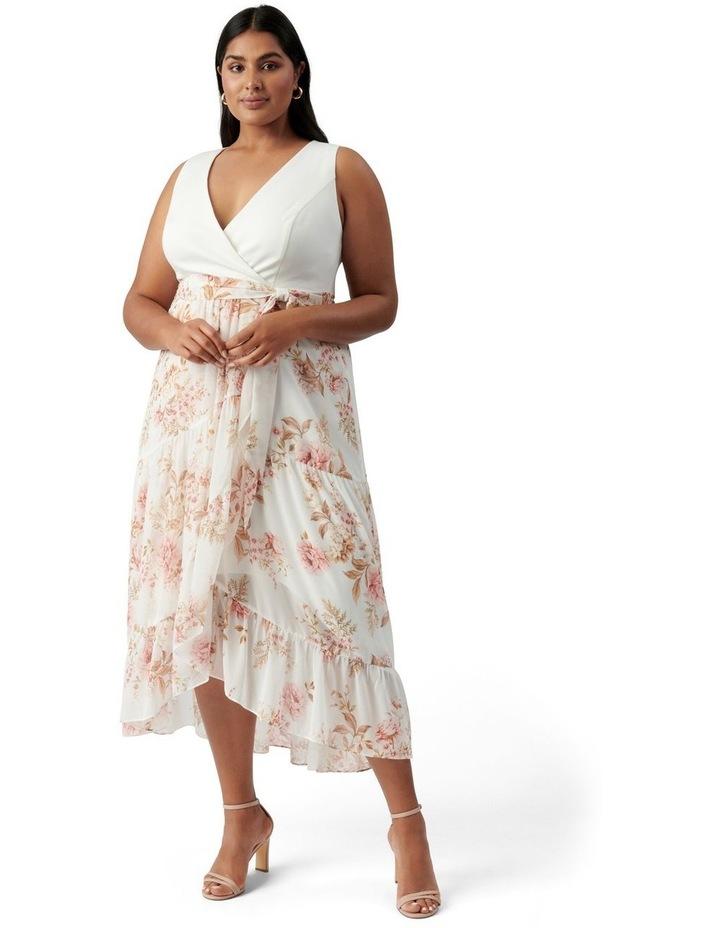 Clover Curve Wrap 2 In 1 Midi Dress Dusk Floral image 1