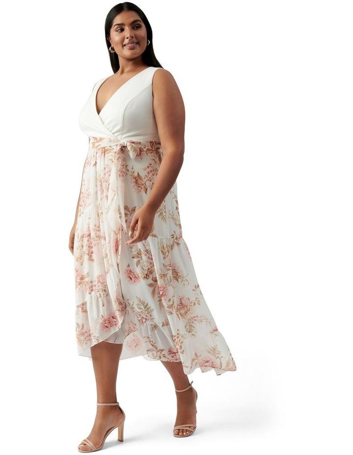 Clover Curve Wrap 2 In 1 Midi Dress Dusk Floral image 3