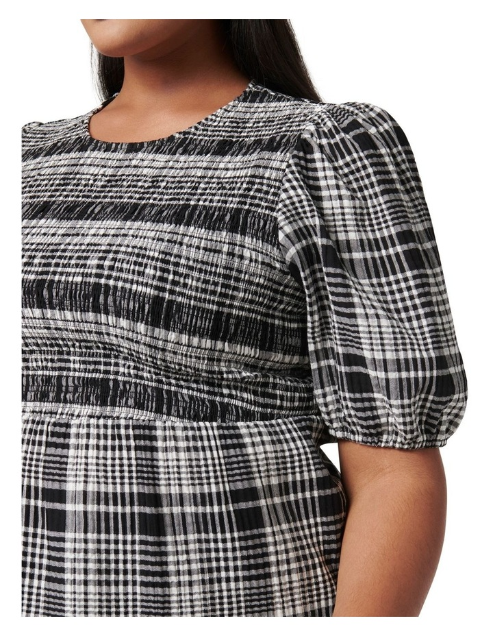 Kennedy Curve Shirred Check Top Black Check image 2