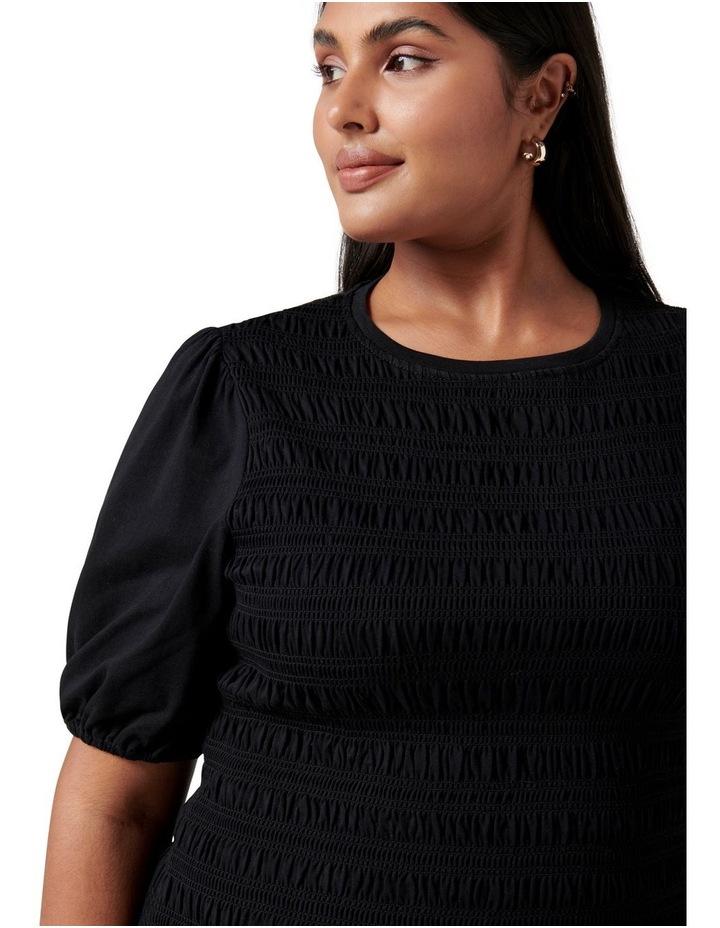 Alexa Curve Shirred Mini Dress Black image 2