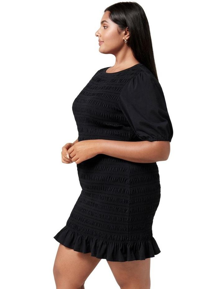 Alexa Curve Shirred Mini Dress Black image 3