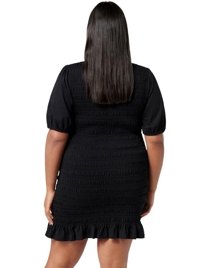 Alexa Curve Shirred Mini Dress Black image 4