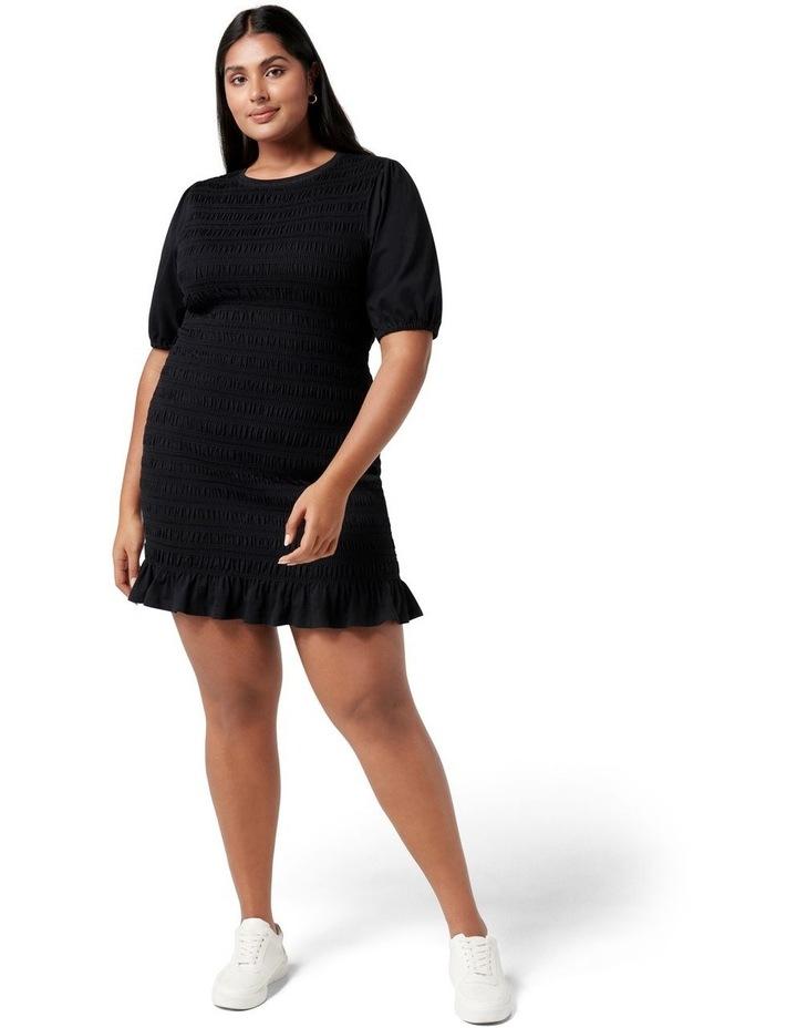 Alexa Curve Shirred Mini Dress Black image 5