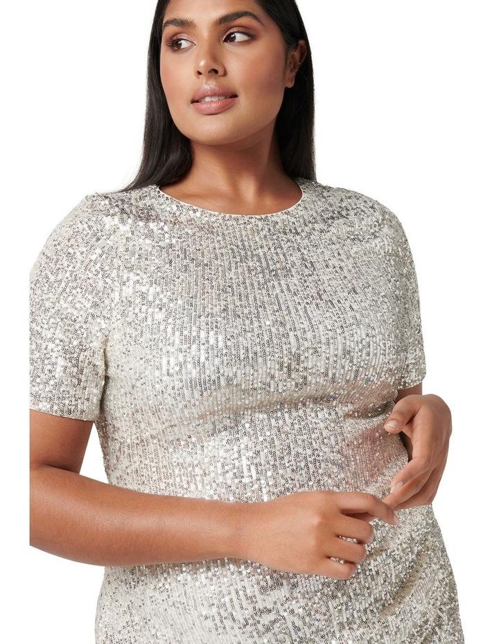 Delora Curve Sequin Mini Dress Silver image 2