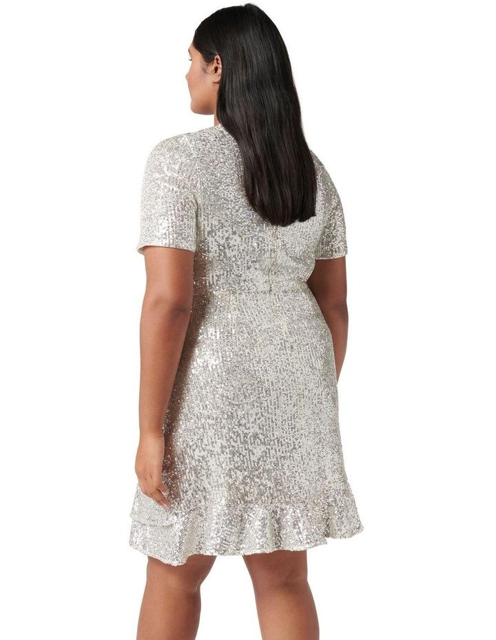 Delora Curve Sequin Mini Dress Silver image 3