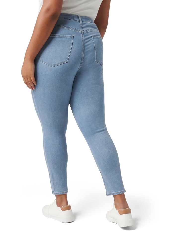 Belinda Curve High Rise Jean Light Wash image 4
