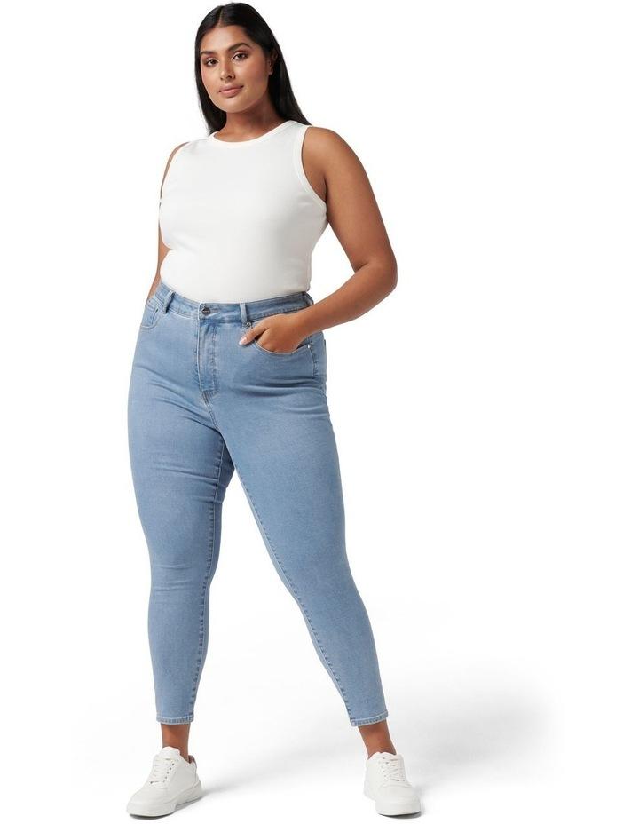 Belinda Curve High Rise Jean Light Wash image 5