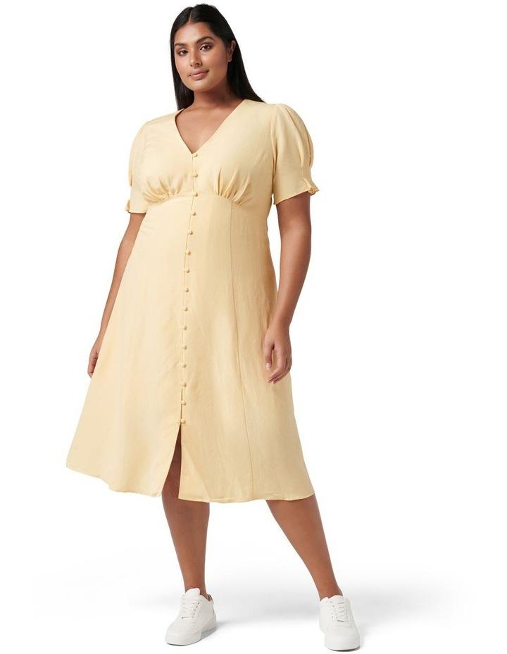 Billie Curve Midi Linen Sun Dress Blondie image 1