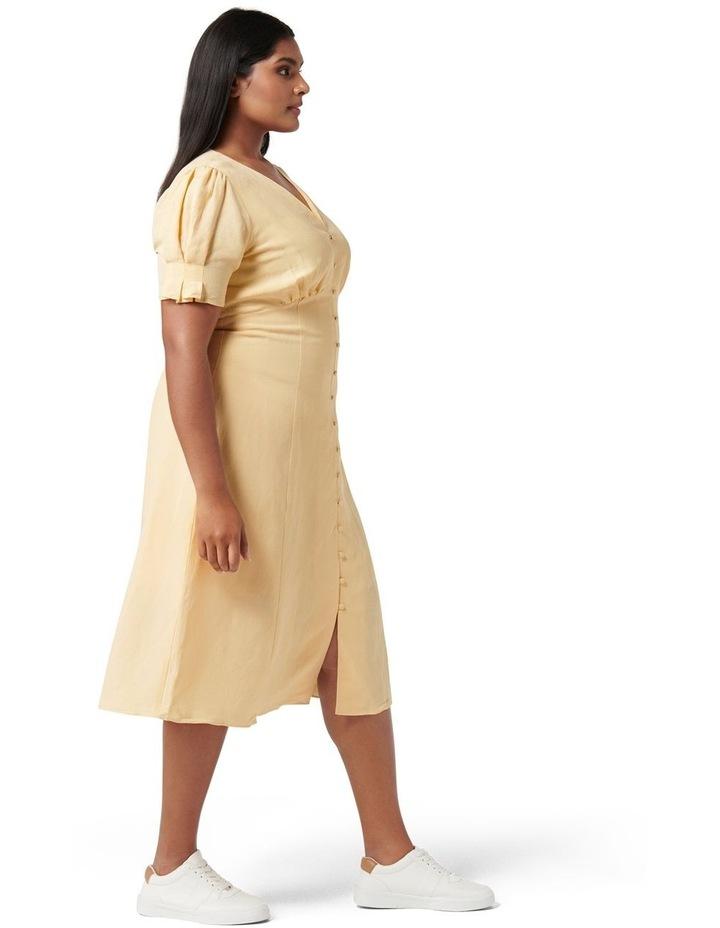 Billie Curve Midi Linen Sun Dress Blondie image 3