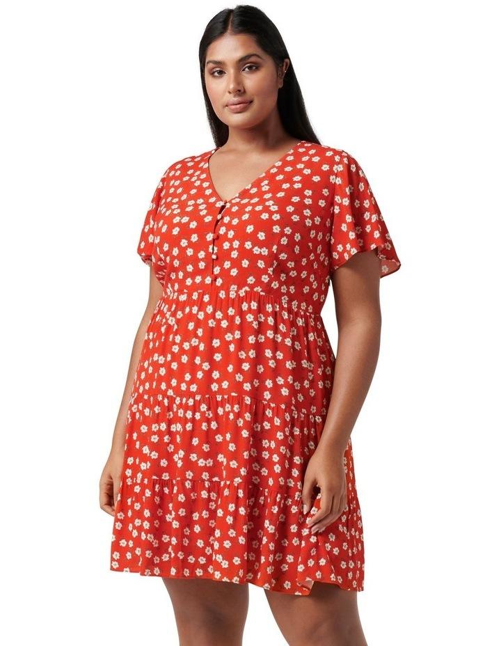 Lauren Curve Mini Sun Dress Red Providence Ditsy image 1