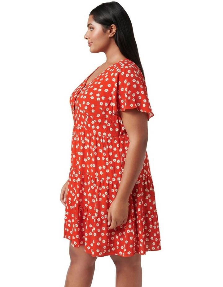 Lauren Curve Mini Sun Dress Red Providence Ditsy image 3