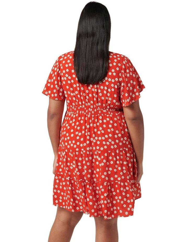 Lauren Curve Mini Sun Dress Red Providence Ditsy image 4