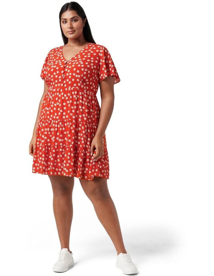 Lauren Curve Mini Sun Dress Red Providence Ditsy image 5