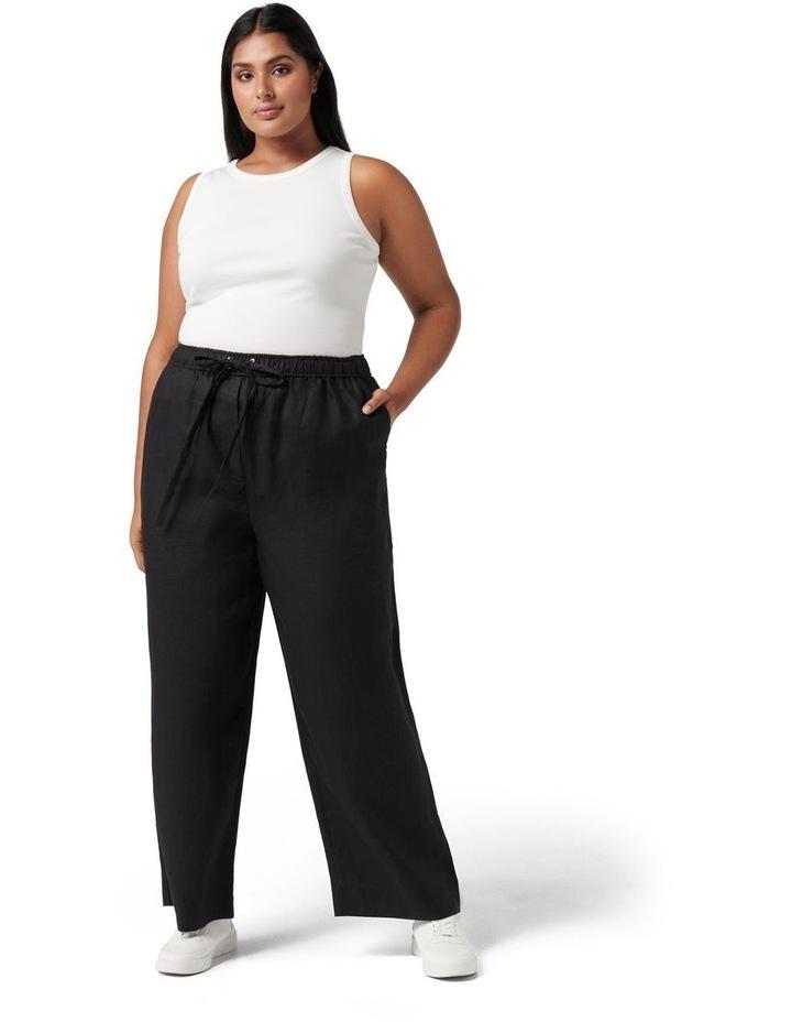Ruby Curve Linen Wide Leg Black image 5