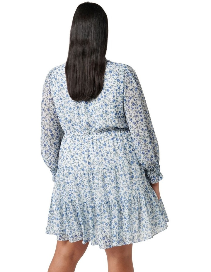 Hunter Curve Tiered Skater Dress Small Montebello Ditsy image 4